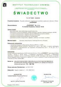 Zertifikat IPPC - ISPM von der Firma Gozdrew